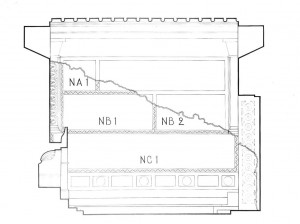Diagram of the North wall paintings. (Yale Univ. Art Gallery)